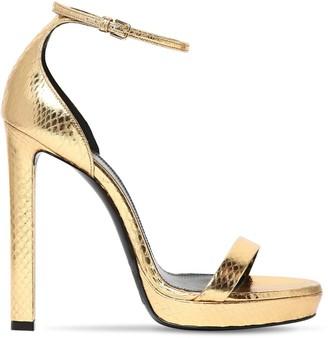 Saint Laurent 115mm Hall Snakeskin Sandals