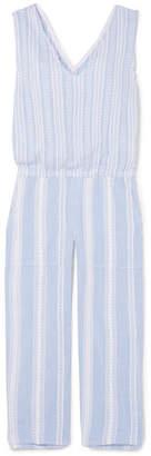 Lemlem Kal Cropped Striped Cotton-gauze Jumpsuit - Sky blue
