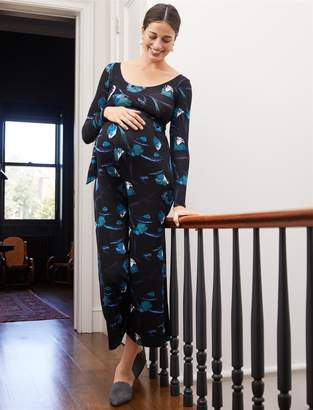 A Pea in the Pod Belted Maternity Jumpsuit