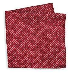 Giorgio Armani Men's Geo Print Silk Pocket Square