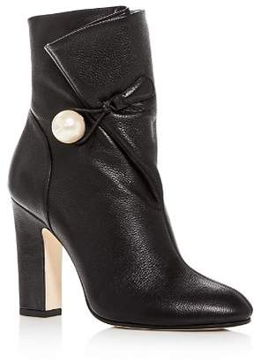 Jimmy Choo Women's Bethanie 85 Leather High-Heel Booties