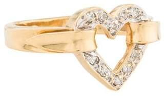 Ring 14K Diamond Heart Cocktail