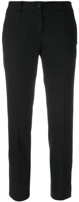 Dolce & Gabbana logo piped cropped trousers