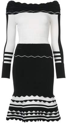 Yigal Azrouel striped knit dress