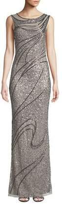 Parker Black Elaine Bateau-Neck Sleeveless Column Gown