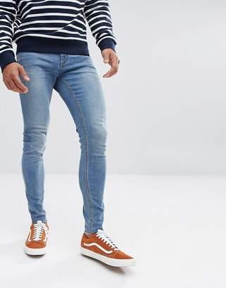 Cheap Monday Him Spray Super Skinny Jeans Diy Blue