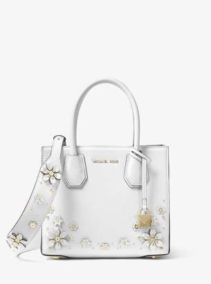 MICHAEL Michael Kors Floral Embellished Leather Shoulder Strap