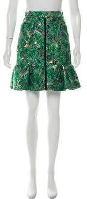 J. Mendel Knee-Length Metallic Skirt