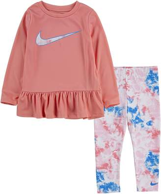 Nike Baby Girl's 2-Piece Peplum Tunic Leggings Set