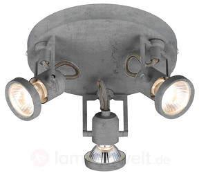 Concreto - dreiflammiges LED-Deckenrondell