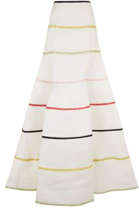 Rosie Assoulin Rainbow Stripe Ball Skirt