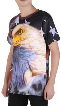 Cocasasa American Style Animal Personality Men'S Casual Short Sleeve Summer O-Neck Shirts Comfortable Hip Hop T-Shirt