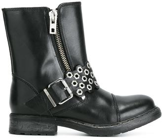 Diesel zipped buckled boots $333.62 thestylecure.com