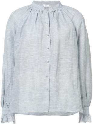 Co pleated high collar blouse