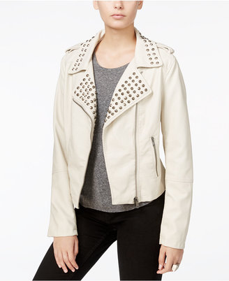 Fair Child Studded Faux-Leather Moto Jacket $119 thestylecure.com