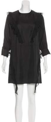 Thomas Wylde Long Sleeve Mini Dress Black Long Sleeve Mini Dress