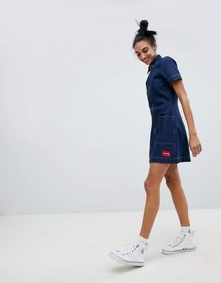 Calvin Klein Jeans Zip Through Denim Dress