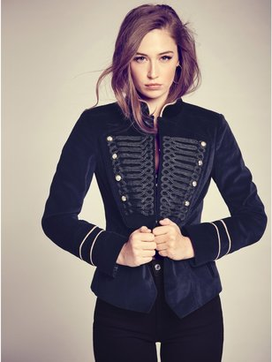 GUESS Jody Velvet Band Jacket $128 thestylecure.com