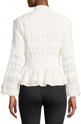 Natori Ruched Peplum Jacket