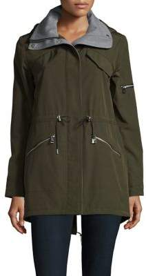 Vince Camuto Olive Zipped Jacket