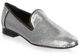 Diane von Furstenberg Leiden Metallic Sequin Loafers
