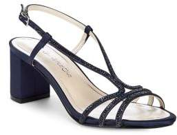 Caparros Miracle Embellished Satin Strappy Sandals