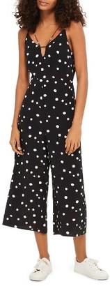 Women's Topshop Spot Strappy Culotte Jumpsuit $80 thestylecure.com