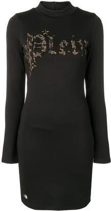 Philipp Plein leopard logo print dress