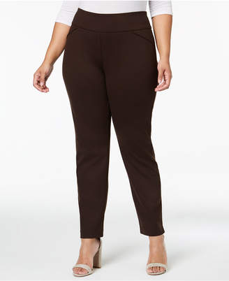 Charter Club Plus Size Ponte-Knit Pants