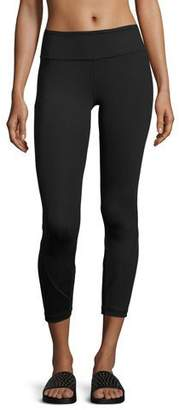 Vimmia Shine Vee Paneled Capri Leggings, Black