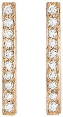 Jennifer Meyer Diamond Long Bar Stud Earrings - Rose Gold