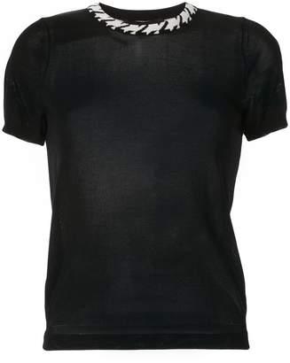 Paule Ka contrast-collar T-shirt