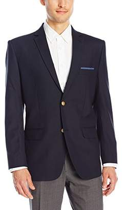 Greg Norman Men's Two Button Center Vent Blazer with Built in Pocket Square