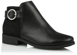 George Black Round Buckle Chelsea Boots