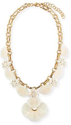 Lele Sadoughi Island Shell Petal Necklace $415 thestylecure.com