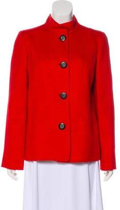Oscar de la Renta Short Button-Up Coat
