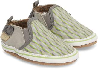 Robeez R) Liam Tropical Print Crib Shoe