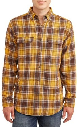 George Men's and Big & Tall Long Sleeve Super Soft Flannel Shirt, up to size 3XLT