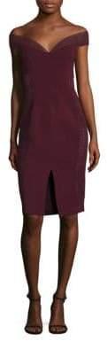 Nicholas Braid Trimmed Off-The-Shoulder Dress