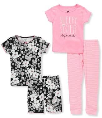 Carter's Little Girls' Toddler 4-Piece Pajama Set - pink/multi