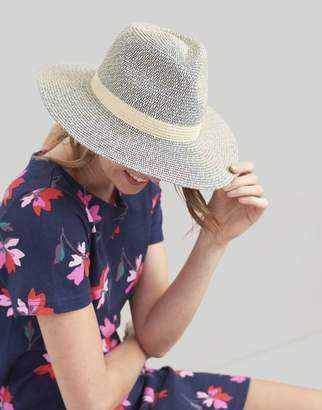 Joules Natural Dora Fedora Sun Hat Size One Size