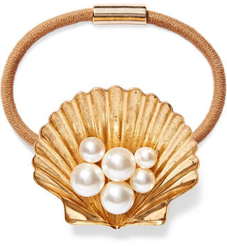 Jennifer Behr Brizo Gold-tone Swarovski Pearl Hair Tie - One size