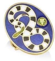 Holly Dyment Peridot 18K Yellow Gold Snake Ring