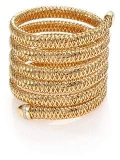 Roberto Coin Primavera Diamond& 18K Yellow Gold Six-Row Wrap Bracelet