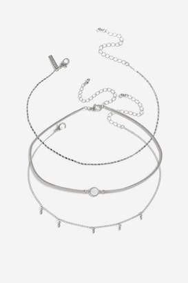 Topshop Cord and Chain Choker Pack