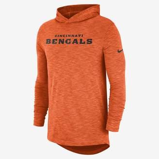 Nike Dri-FIT On-Field (NFL Bengals) Men's Hooded Long Sleeve Top