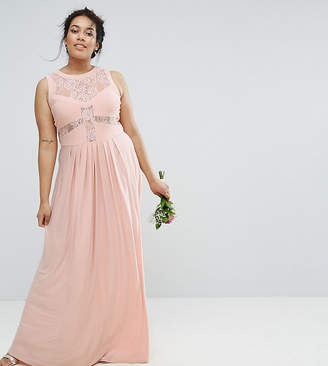 Asos WEDDING Lace Top Pleated Maxi Dress