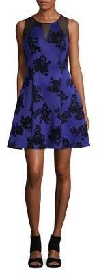 GUESS Floral Sleeveless A-Line Dress