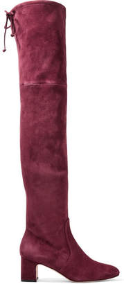 120aafc7d37 Stuart Weitzman Kirstie Suede Over-the-knee Boots - Burgundy