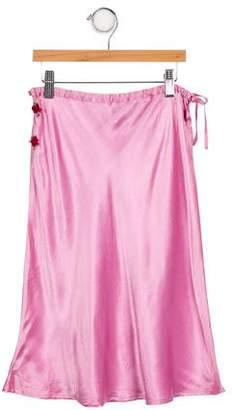 Miss Blumarine Girls' Satin Skirt